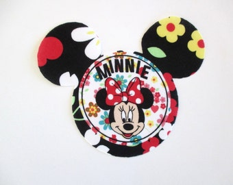 Minnie Iron On Appliques Large 5 1/2""