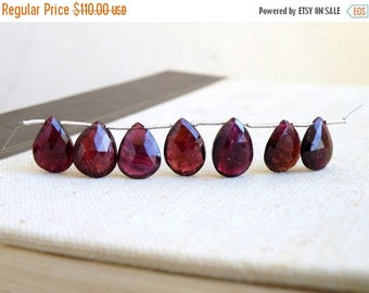 Mega SALE Outstanding Pink Watermelon Tourmaline Gemstone Briolette Faceted Pear 13.5 to 15mm 7 beads