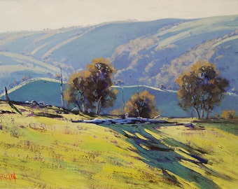 AWARD WINNING PAINTING Lithgow Landscape Oil on canvas by Graham Gercken