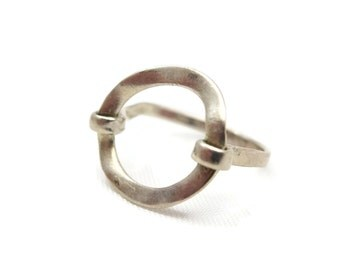 Sterling Silver Ring - Organic Modern Style