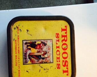 Vintage Troost Tobacco Tin