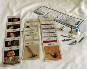 CLUE Replacement PIECES - Weapons - Cards - Note Paper