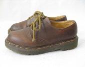 Vintage DOC MARTEN Made in England  Oxfords. Size 4 UK. Size 6 1/2  Women's U.S.