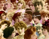 Digital Kit-31 -For Digital Art- Gorgeous Ladies,  Includes 20 Different Vintage Women, PNG files-Instant Download