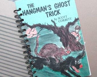 Journal, Recycled Book Journal, Vintage Book Journal, Sketchbook, Notebook, Altered Book, Blank Book, Hangman's Ghost Trick, Halloween