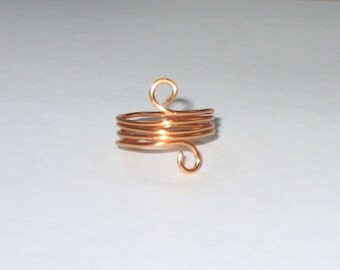 Copper Coiled Wire Wrapped Ring