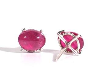 Ruby Post Earrings