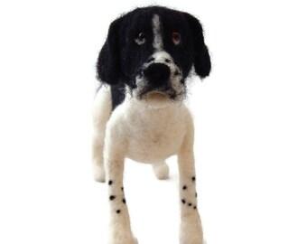 Personalised Dog Sculpture, Example English Pointer Dog. Needle felted custom dog art any breed