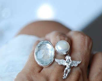 15% Discount The Angel Ring in Silver