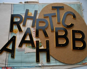lot of 11 vintage plastic marquee letter found objects for altered art and craft projects