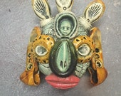 Ceramic Buddha head, wall hanging