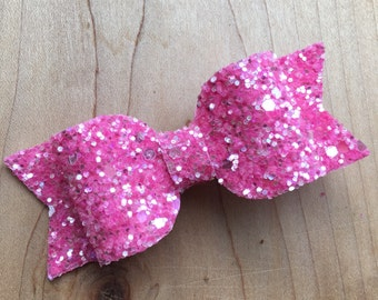 Pink Sparkle Bow, Pink Bow, Sparkle bow, bow, glitter bow, glitter, glitter hair bow, pink hair bow