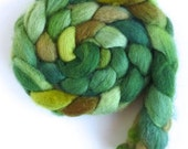 Pre-Order, Green Surround, BFL Wool Roving - Hand Painted Spinning or Felting Fiber