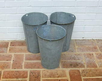Antique Vintage Galvanized Sap Bucket Vintage Sap Bucket Wall Planter