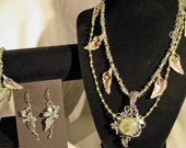 Forest Queen Series Wardrobe, Creative Eddy and Karen Hill Tribe Silver, Green Amethyst ,shaded Green Tourmaline & Peridot.