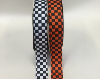 5 yards 1.5 inch Grosgrain-Checkered-Your Choice