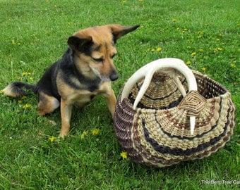 Antler Basket with Real Deer Antler by Marcia Whitt