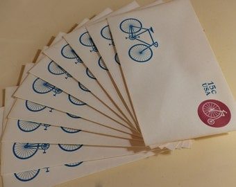 Vintage USPS Bicycle Envelopes - 1980