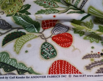Garden Fresh Cotton Quilt Fabric by Gail Kessler for Andover Pattern 4137 Five Yards Available Fun Kitchen DIY Projects Veggies Vegetables