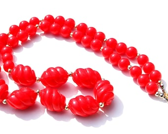 Fabulous Red Plastic Necklace