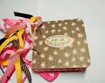 Grandma Mini Scrapbook Album, Grandma Mini Album, Grandma Rocks, Grandma Brag Book, Grandma Photo Album, Grandma