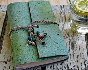 Summer Journal in blue - vacation travel road trip journal