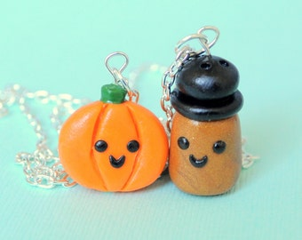Pumpkin Spice Charm Necklaces, Pumpkin Spice, Best Friend Necklaces, Best Friend, Best Pumpkin, Necklaces Charm
