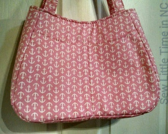 Sale: Use 15Off coupon to get 15% off, Pink and White Anchor Nautical Totebag