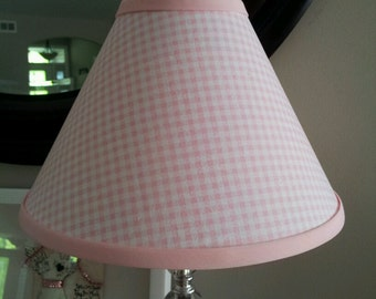 Pink Gingham Lamp Shade
