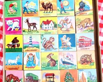 Vintage ABC Picture Blocks