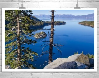 Lake Tahoe, Landscape Photograph, Emerald Bay, Tahoe Art, Mountain Prints, Sierra Mountains, Lake Photographs, Western Picture