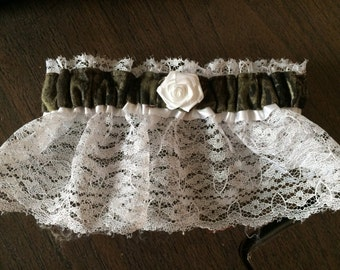 Camouflage Camo Wedding Bridal Garter Regular/Plus Size Realtree or Mossy oak