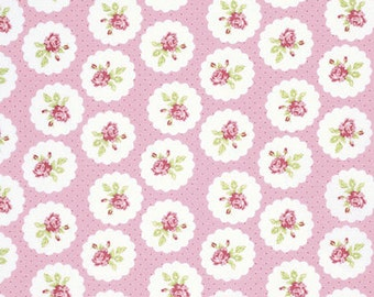LuLu Roses by Tanya Whelan - Lotti Print Fabric in Pink