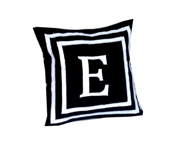 Throw Pillows With Letters On Them : 30% OFF Letter Pillows Monogram Pillows Black Throw Pillow