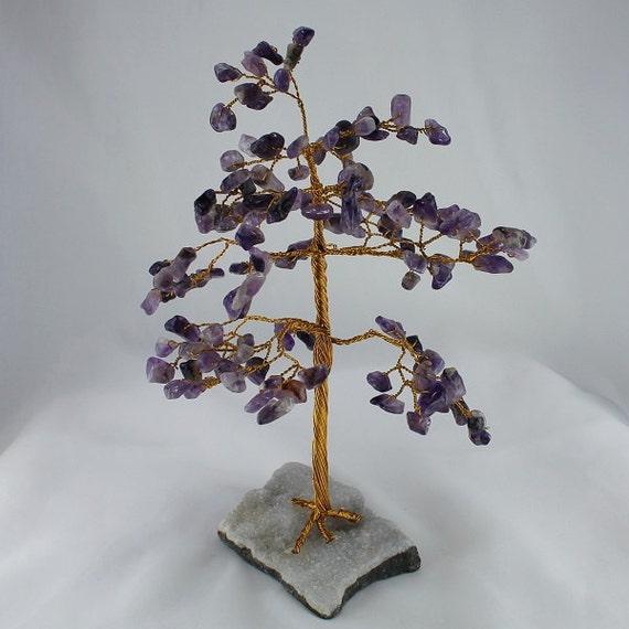 Amethyst gem chip tree gemstone sculpture