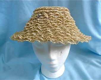 Vintage Ladies Straw Hat