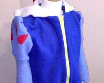 Snow White Hoodie Fleece Jacket