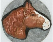 Draft Clydesdale Shire Fantasy Chocolate Brown Chestnut Copper Sabino OOAK Magnet
