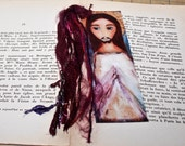 Divine Mercy-  Laminated Bookmark  Handmade - Original Art by FLOR LARIOS