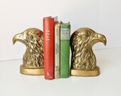 Brass Bald Eagle Bookends, US Symbol