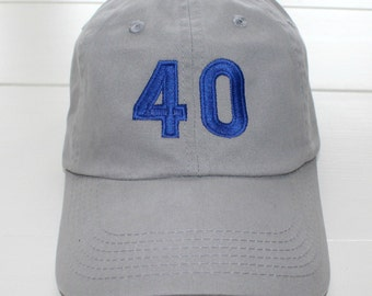 Personalized Number Baseball Cap Custom Embroidered Hat