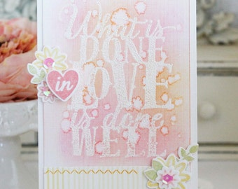 Done in Love...Handmade Card