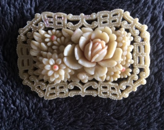 Vintage celluloid  brooch occupied Japan