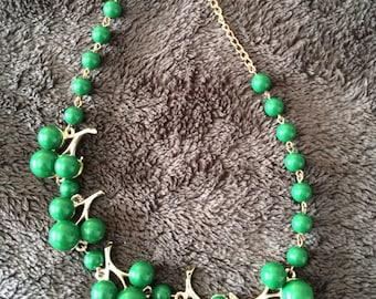 Vintage green cherry choker