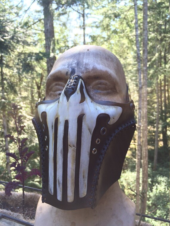 3d Printed Shoes >> Leather Punisher biker airsoft half mask