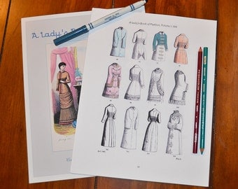 A Lady's Book of Fashion Vol. 1 PRINT Coloring Book