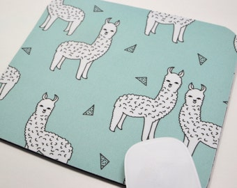 Buy 2 FREE SHIPPING Special!!   Mouse Pad, Fabric Mousepad    Alpaca on Mint