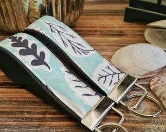 Wrist Key Chain - Key Fob Wristlet Keychain - Fabric Fob - Beautiful Nature