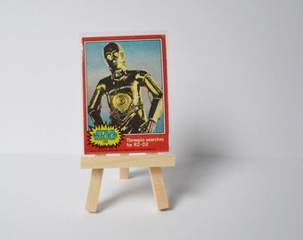 Star Wars Trading Card with Display Stand Geekery Movie Collectibles C3PO 1977 Original Movie Display