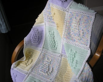 Baby Afghan in Kitty Pattern